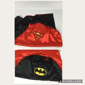 Reversible Batman / Superman cape